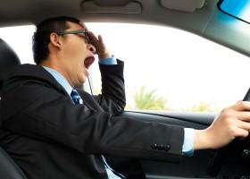 conductor dormido en carretera