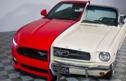 Ford junta dos Mustang para celebrar la innovación automotriz